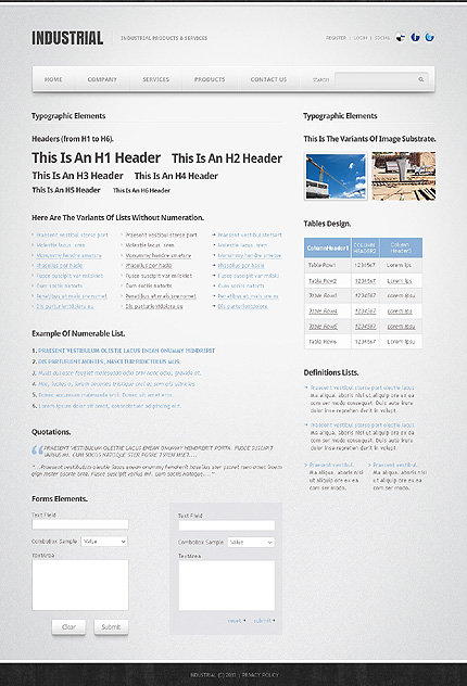 ADOBE Photoshop Template 42013 Home Page Screenshot