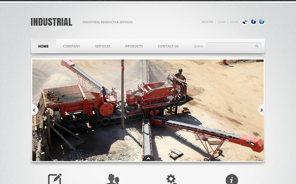Template PSD  #42013 per Un Sito di Industria New Screenshots BIG