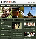 Military Facebook HTML CMS  Template 42017