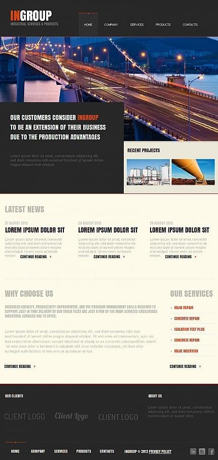 ADOBE Photoshop Template 42023 Home Page Screenshot