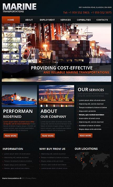 ADOBE Photoshop Template 42026 Home Page Screenshot