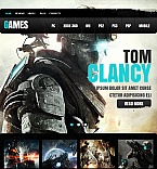 Games Facebook HTML CMS  Template 42033