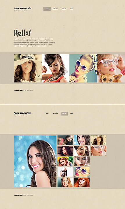 ADOBE Photoshop Template 42049 Home Page Screenshot