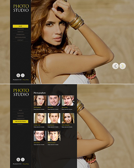ADOBE Photoshop Template 42050 Home Page Screenshot