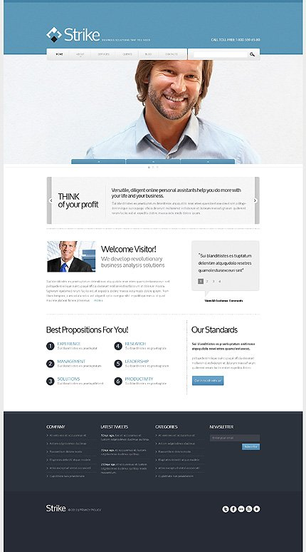 Drupal Template 42053 Main Page Screenshot