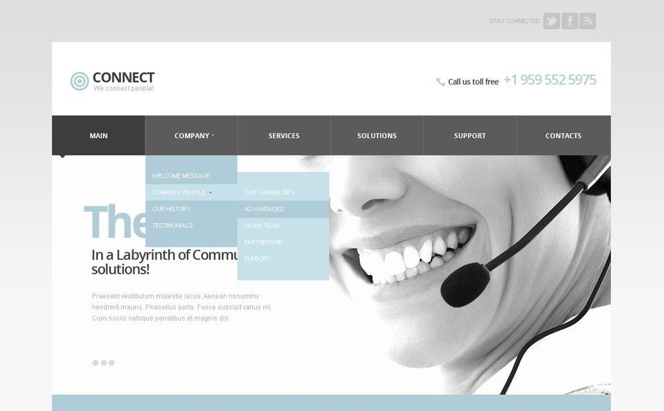 Template Siti Web Responsive #42058 per Un Sito di Comunicazioni New Screenshots BIG