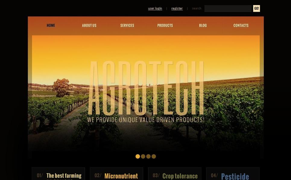 Joomla Template over Landbouw  New Screenshots BIG