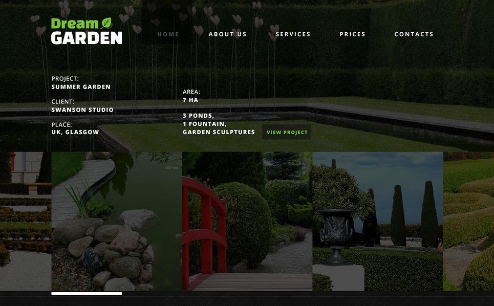Bahçe Tasarımı  Web Sitesi Şablonu New Screenshots BIG