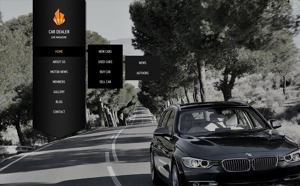 Modello Siti Web  #42086 per Un Sito di Commerciante d'Auto New Screenshots BIG