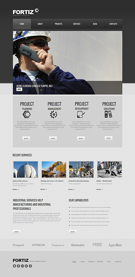 ADOBE Photoshop Template 42091 Home Page Screenshot