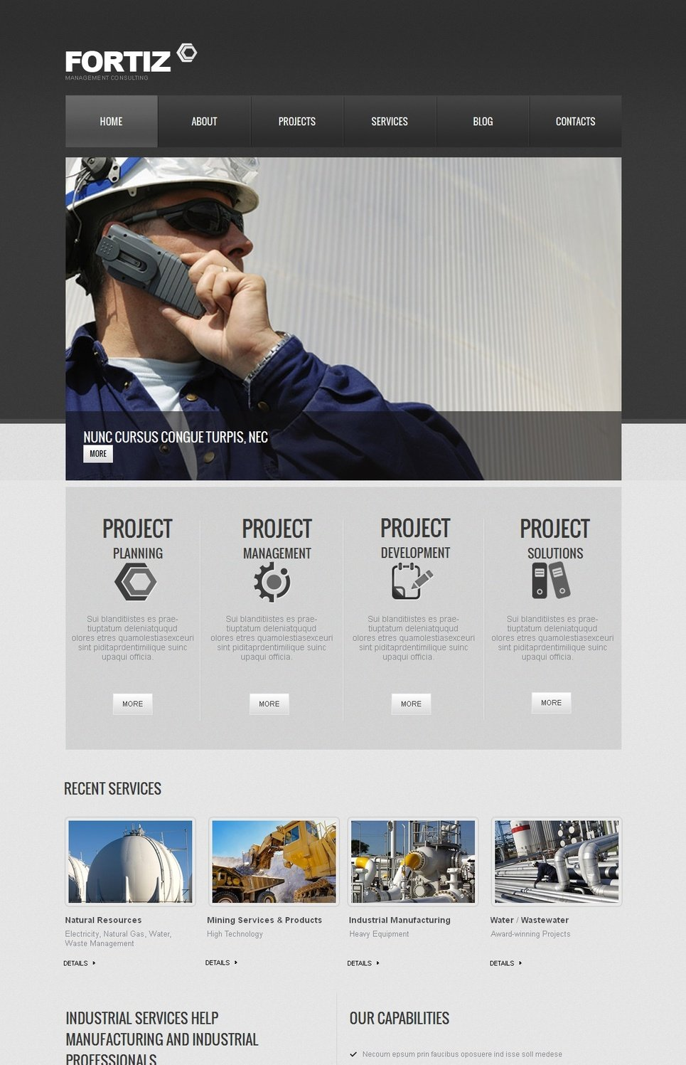 Neutral Business Template with Rich Contrasts and Transparency Effect - image