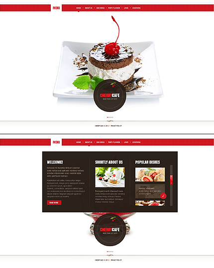 ADOBE Photoshop Template 42092 Home Page Screenshot