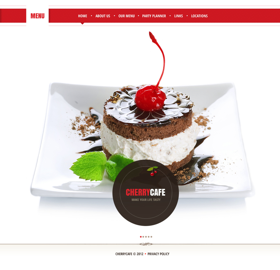 Cafe Web Template with Background Photo Gallery - image