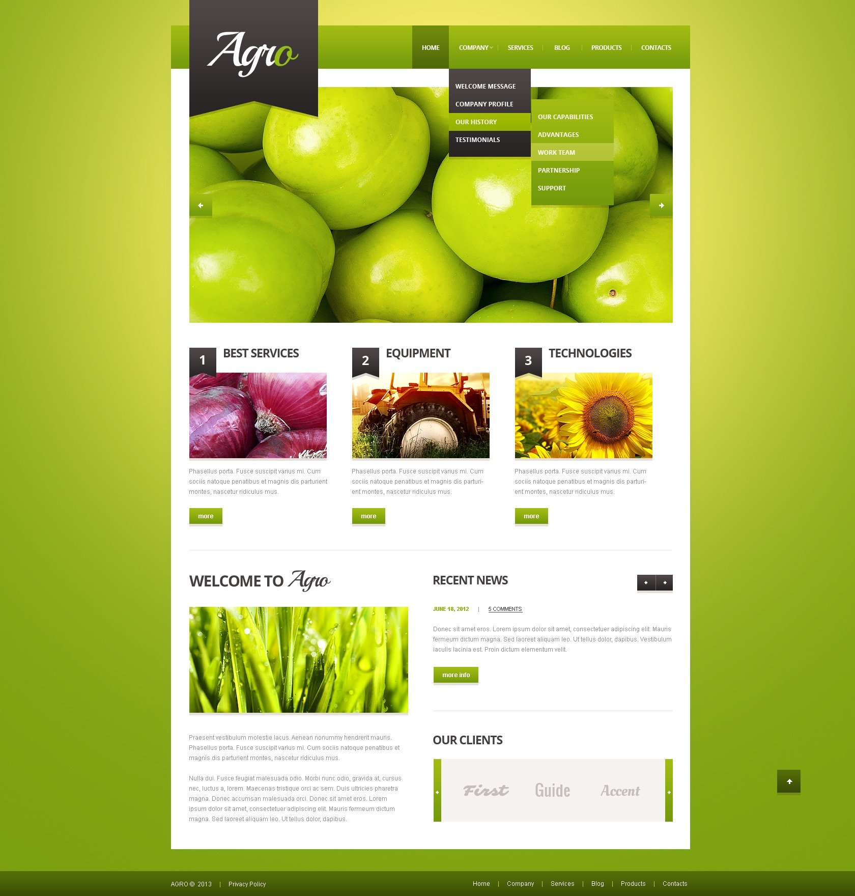 Agriculture Template WordPress Theme - screenshot