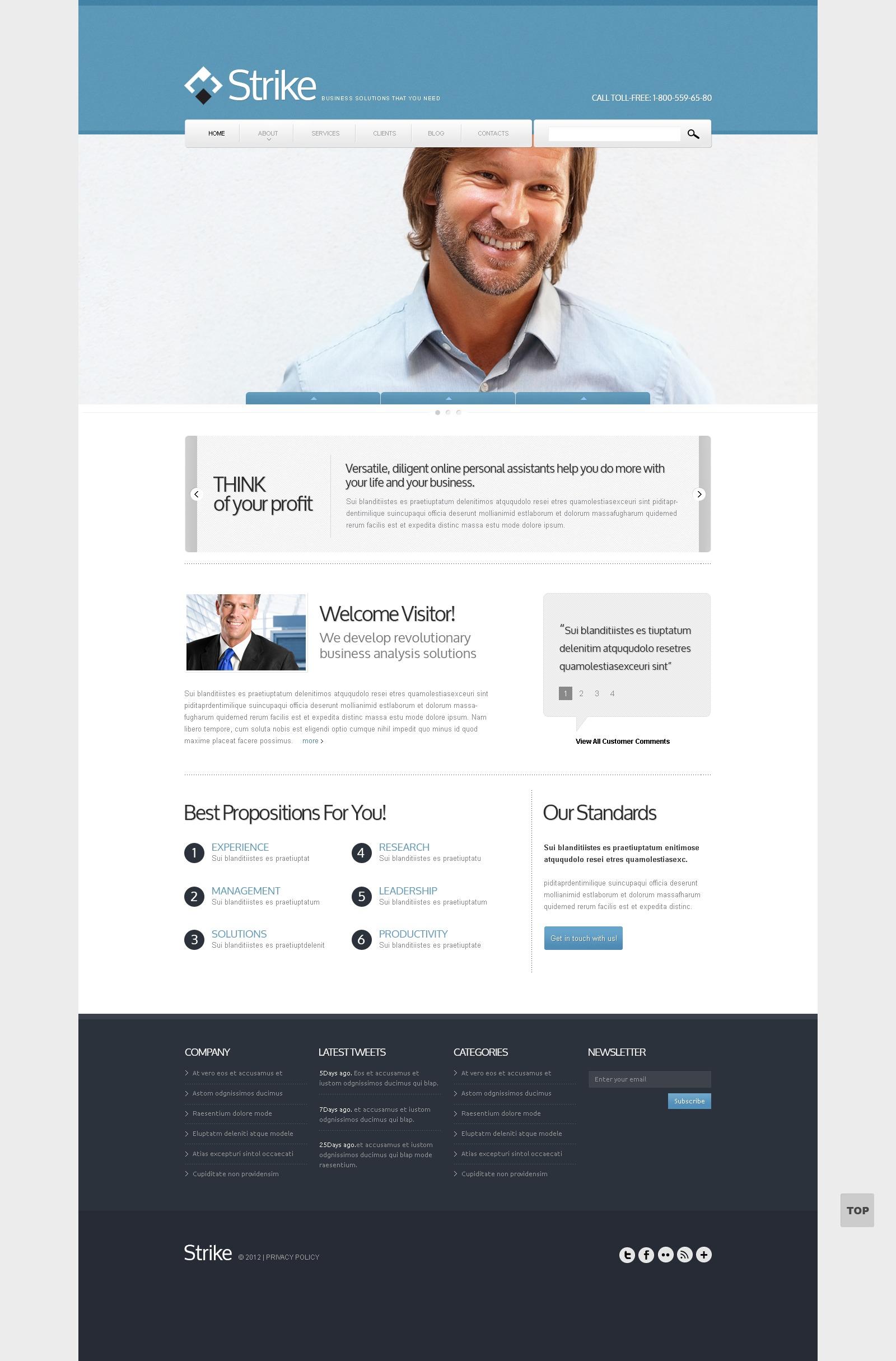 Business to Business Drupal sablon 42053