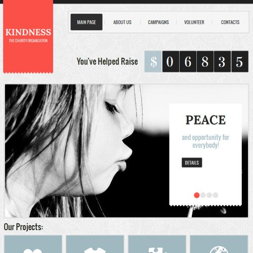 Kindness - Facebook HTML CMS Template
