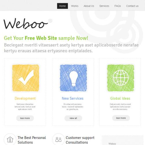 Weboo - Facebook HTML CMS Template