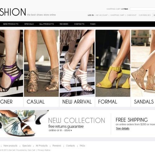 Fashion Shoes - ZenCart Template