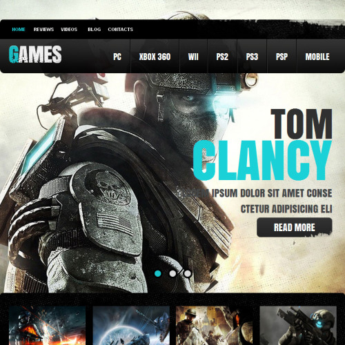 Game Portal - Facebook HTML CMS Template