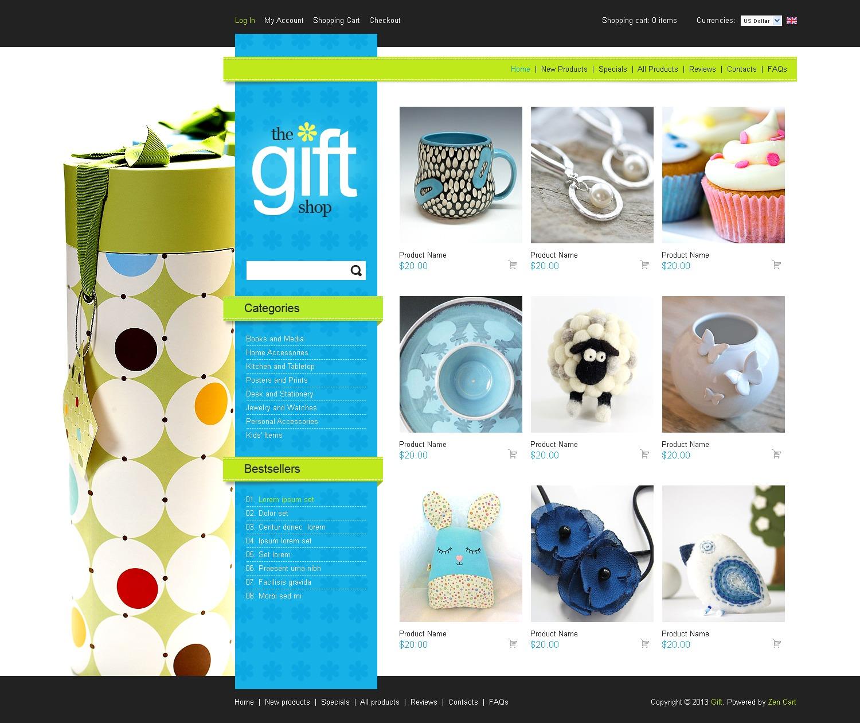 Gifts Store ZenCart Template