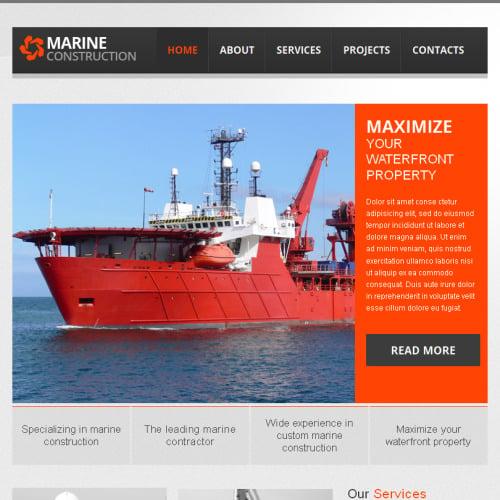 Marine - Facebook HTML CMS Template