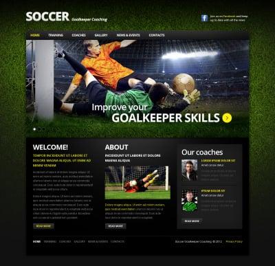 Soccer Moto CMS HTML šablona