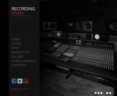 Modèle Moto CMS HTML  pour studio d'enregistrement