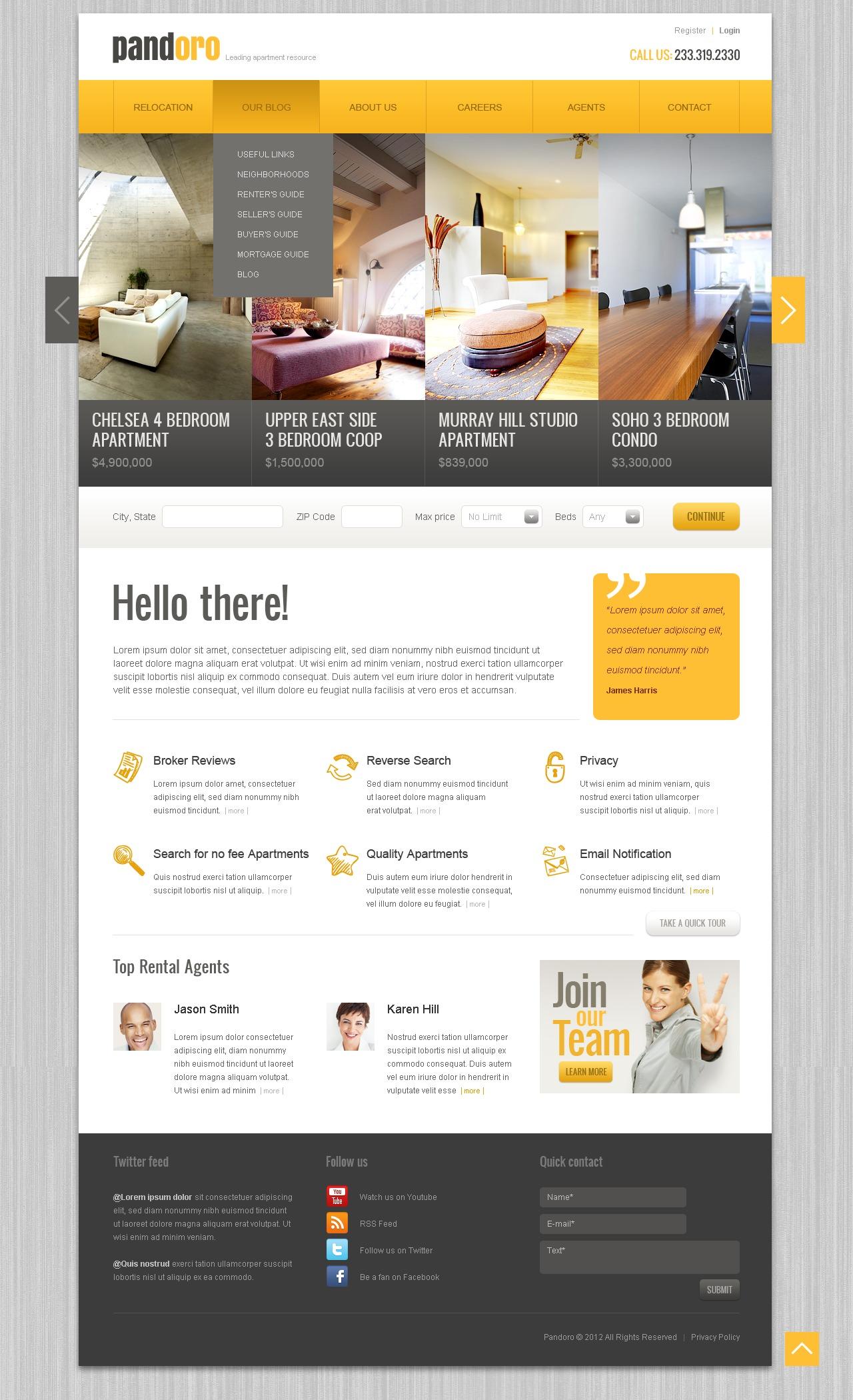 Real Estate Agency Drupal Template - screenshot