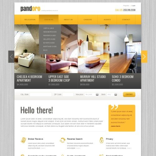 Real Estate Agency - Drupal Template