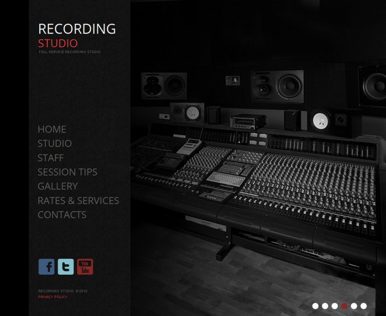 Recording Studio Moto CMS HTML Template New Screenshots BIG