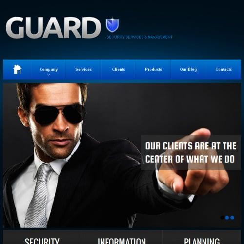Guard Security - Facebook HTML CMS Template