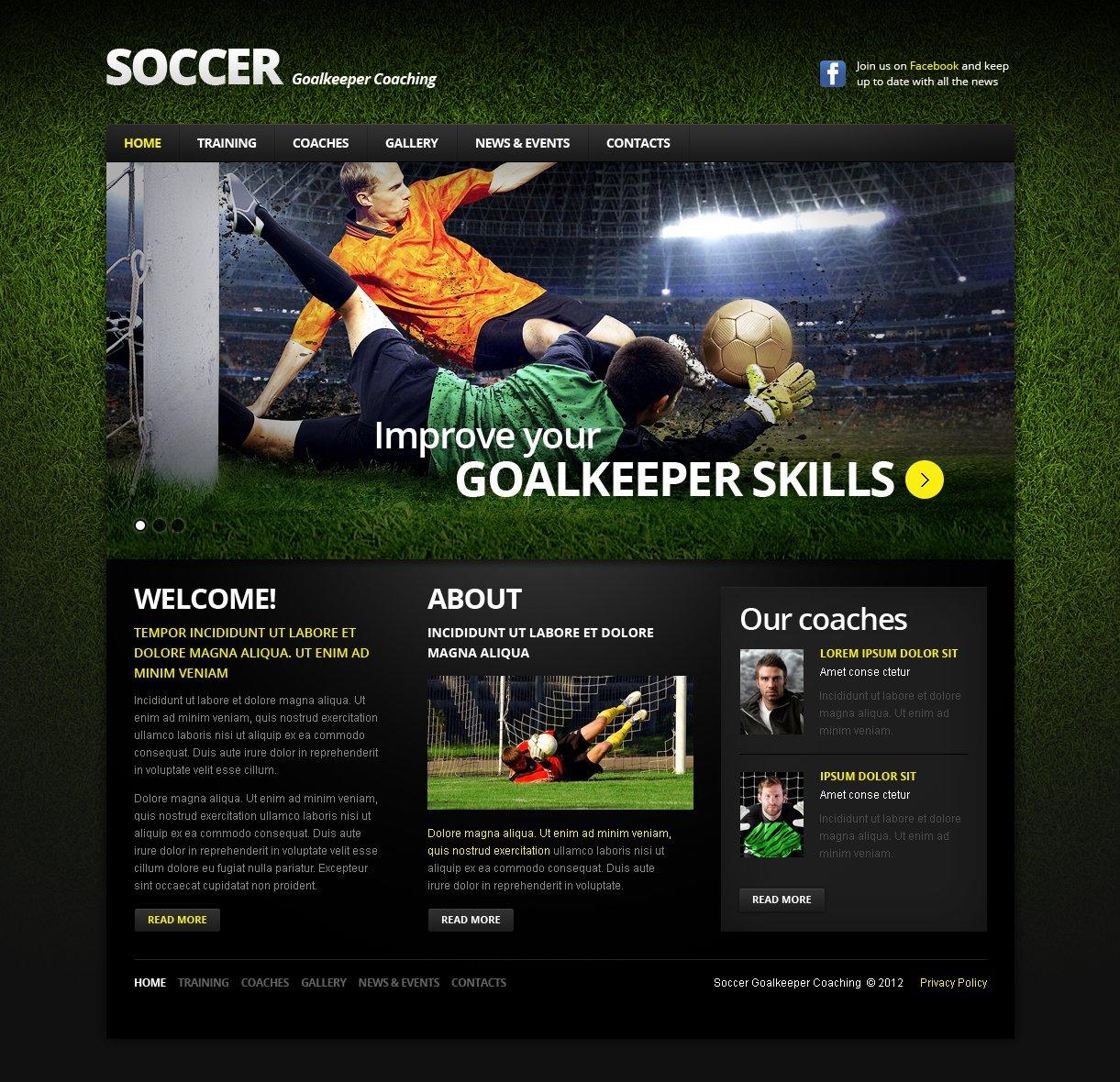Soccer Moto CMS HTML Template