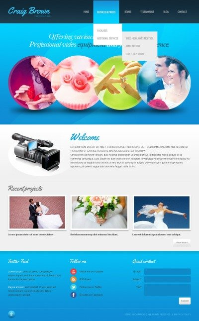 videographer web templates