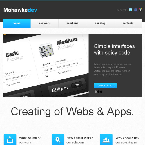 Mohawke - Facebook HTML CMS Template