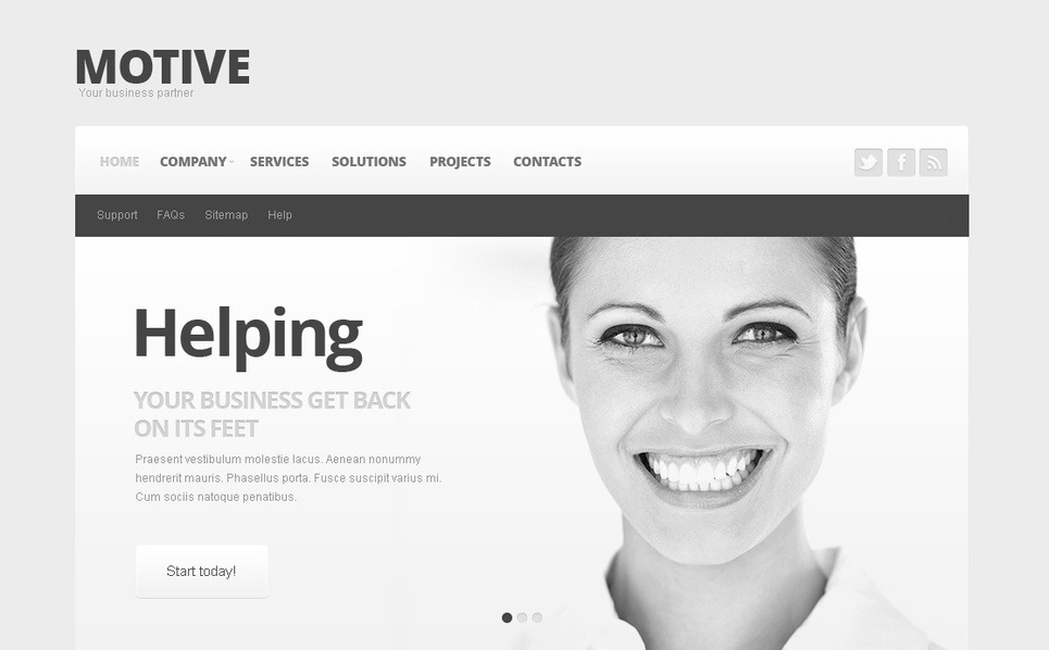 Premium Moto CMS HTML Template over Business & Diensten New Screenshots BIG