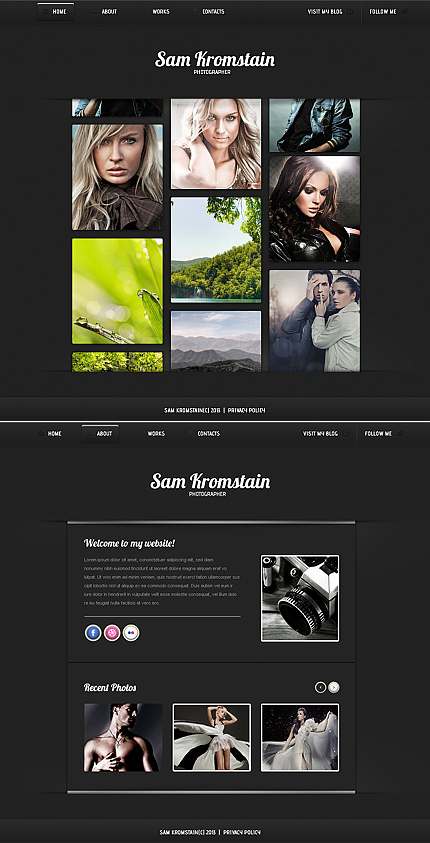 ADOBE Photoshop Template 42101 Home Page Screenshot