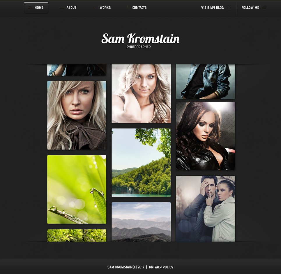Black Portfolio Template with Creative Image Gallery - image