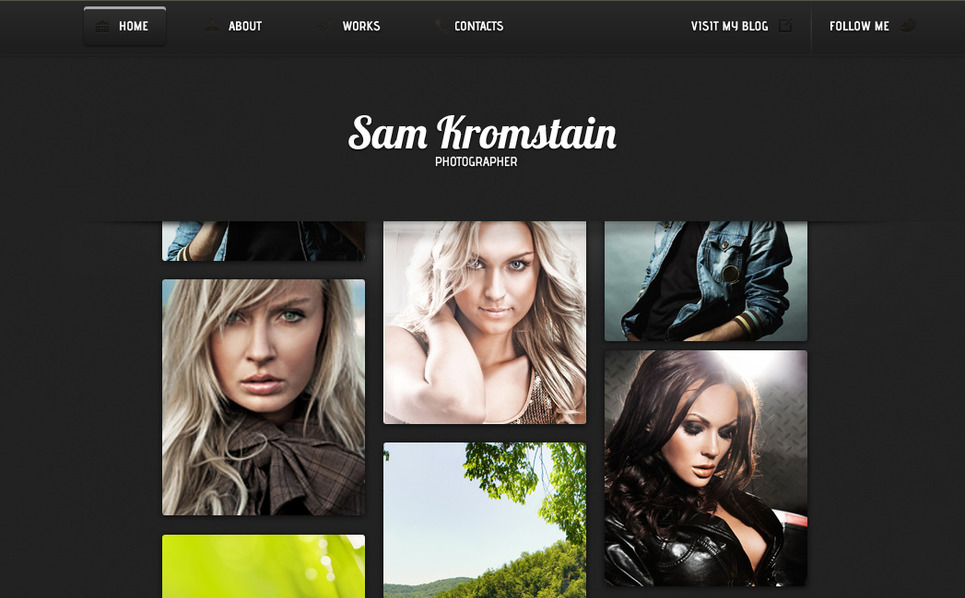 Premium Moto CMS HTML Template over Fotograaf Portfolio New Screenshots BIG