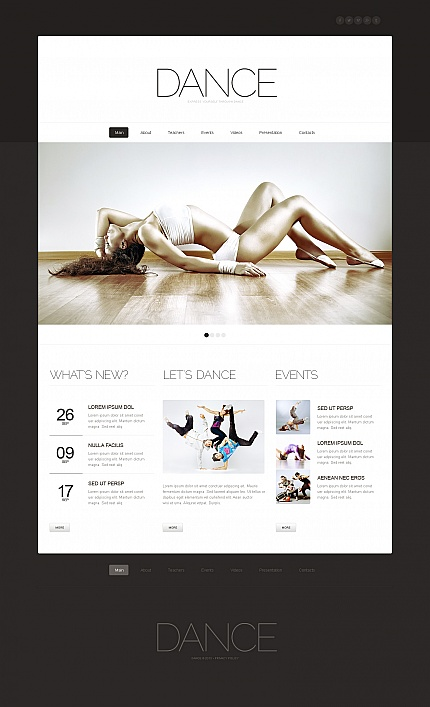 ADOBE Photoshop Template 42104 Home Page Screenshot