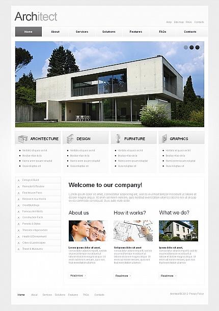 ADOBE Photoshop Template 42106 Home Page Screenshot