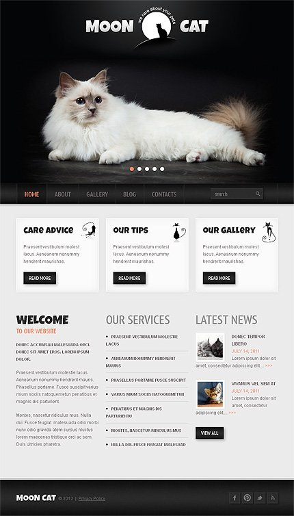 WordPress Theme/Template 42117 Main Page Screenshot