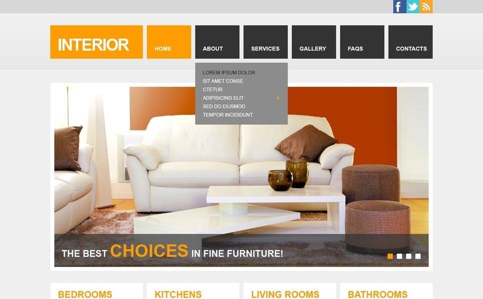 Modello Siti Web Responsive #42122 per Un Sito di Design di Interni New Screenshots BIG