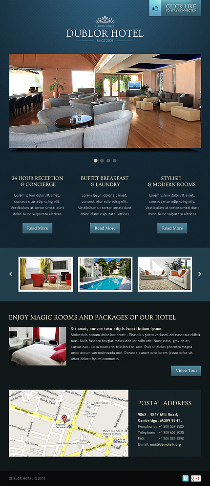 ADOBE Photoshop Template 42130 Home Page Screenshot