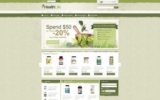 Healthy Life VirtueMart Template