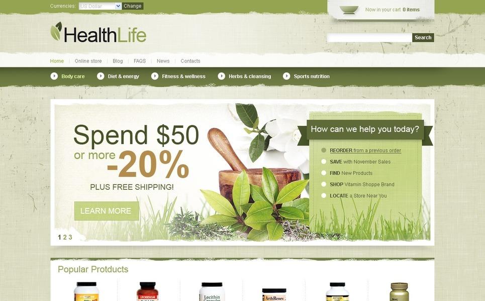 Template VirtueMart para Sites de Farmácia №42142 New Screenshots BIG