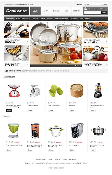 ADOBE Photoshop Template 42149 Home Page Screenshot