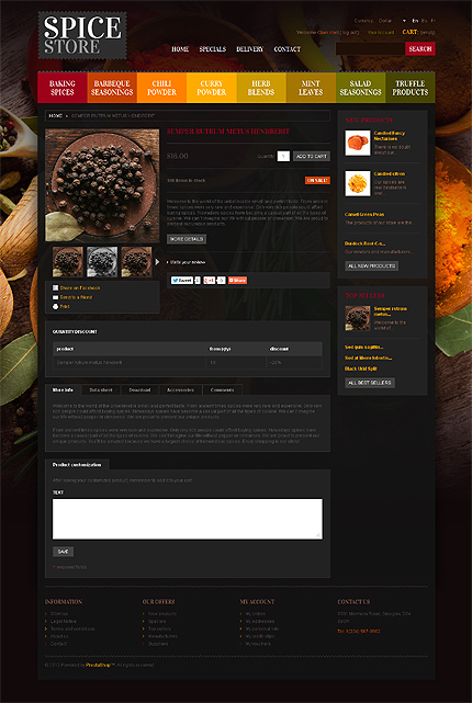 ADOBE Photoshop Template 42155 Home Page Screenshot