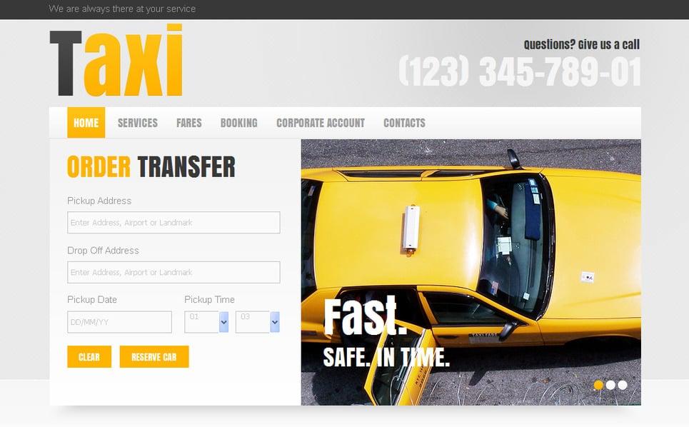 Template Moto CMS HTML para Sites de Taxi №42157 New Screenshots BIG