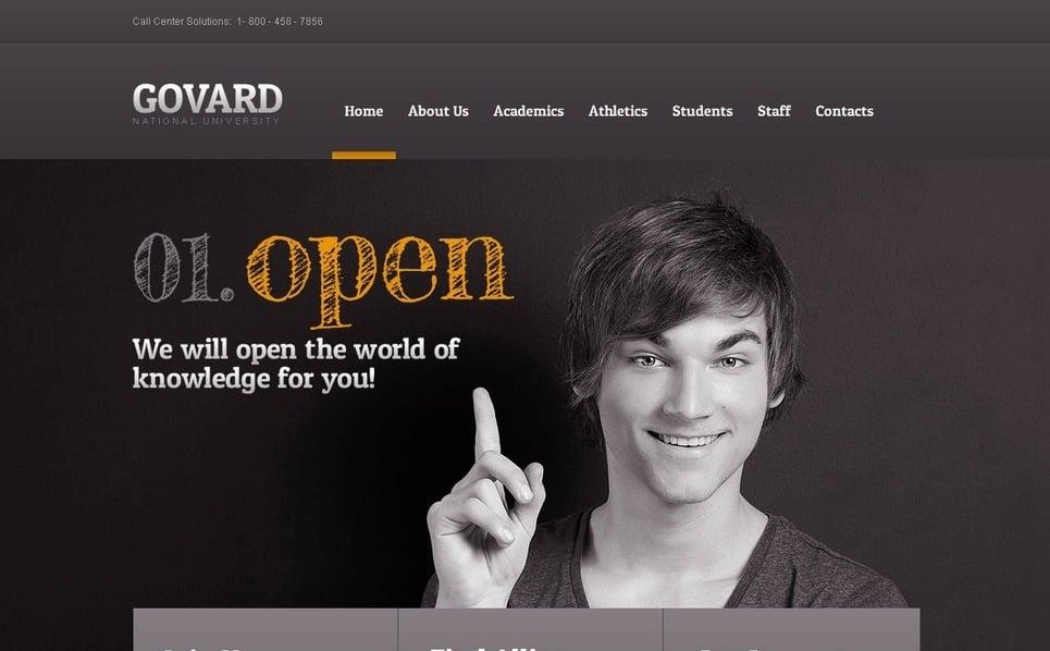 Szablon Moto CMS HTML #42159 na temat: uniwersytet New Screenshots BIG