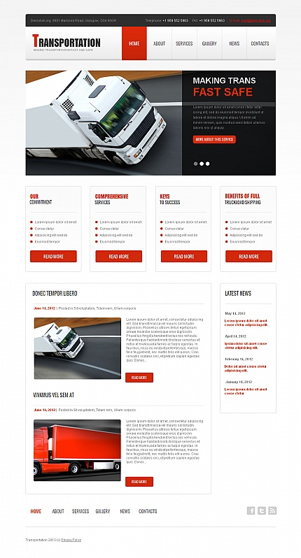 ADOBE Photoshop Template 42163 Home Page Screenshot